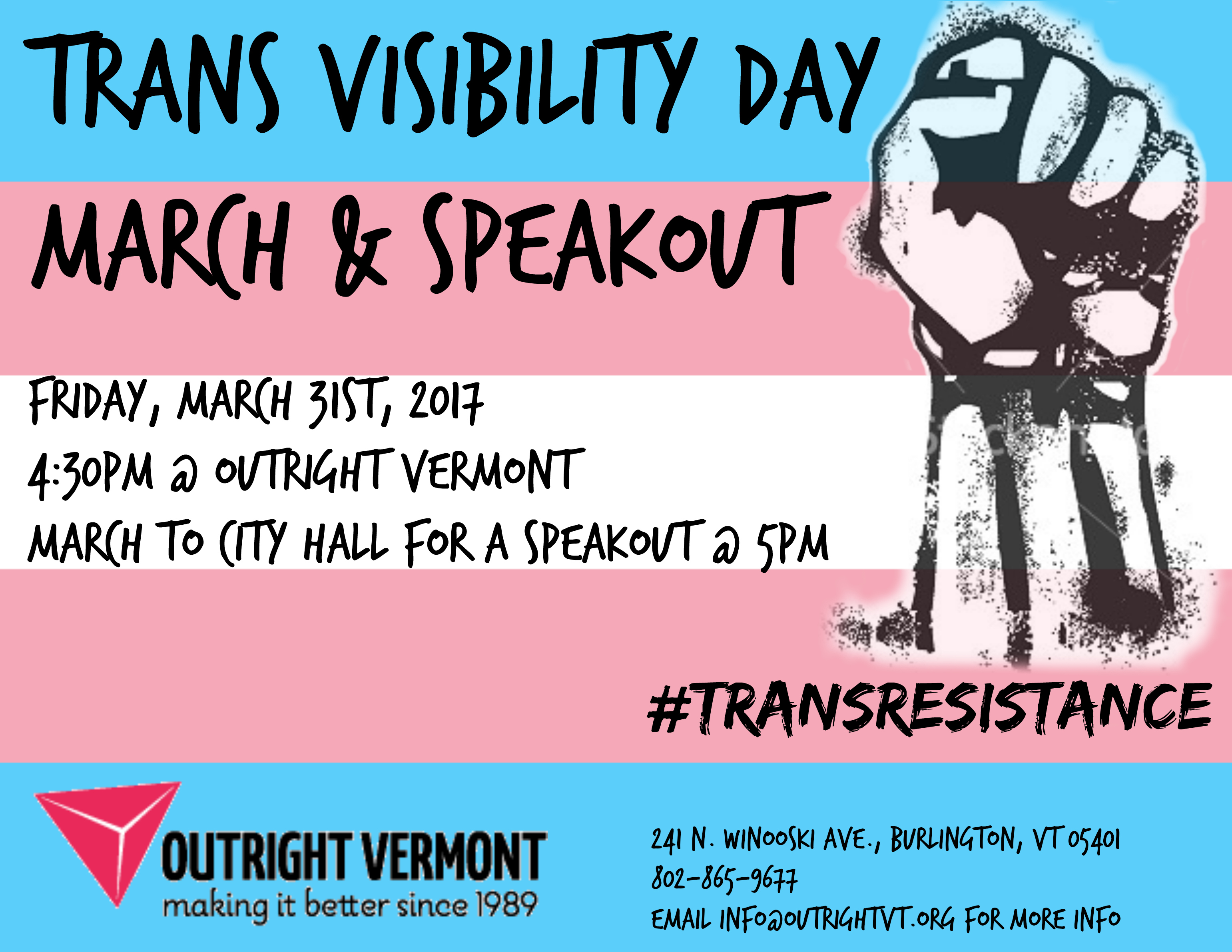 Trans Visibility March & Speak Out